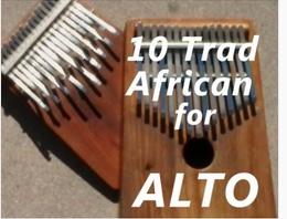 10 Traditional African Pieces for Alto (Download)