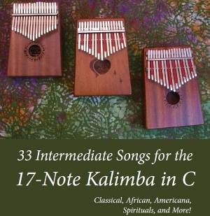 There are 9 Trad. African Songs in this download for 17-Note Kalimba in C