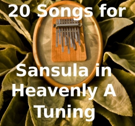 The Heavenly A Sansula Book has 8 African Songs