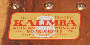 Hugh Tracey Label on a Vintage Treble Kalimba