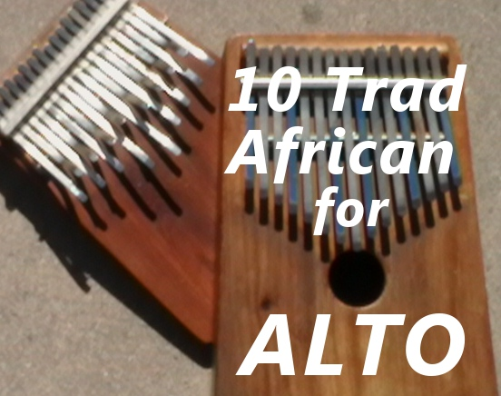 10 Trad. Karimba Pieces for Alto