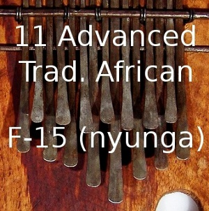 11 Adv. Trad. African  for 15-Note F Karimba