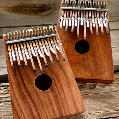 Hugh Tracey 17-Note Box Mounted African-Tuned Karimba